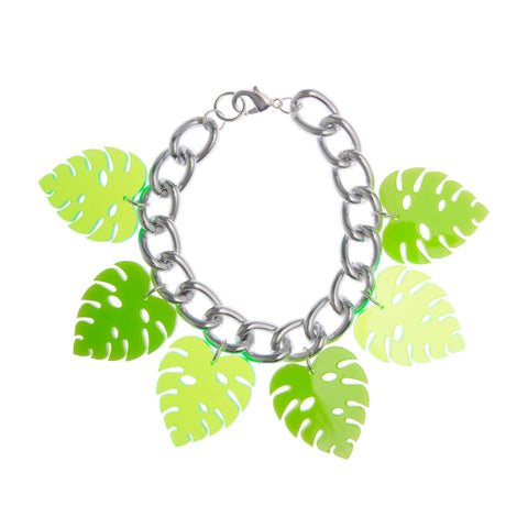 Monstera Leaf Bracelet