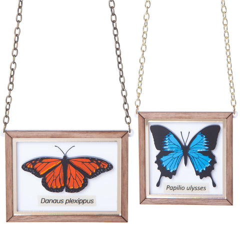Mounted Butterfly Necklace