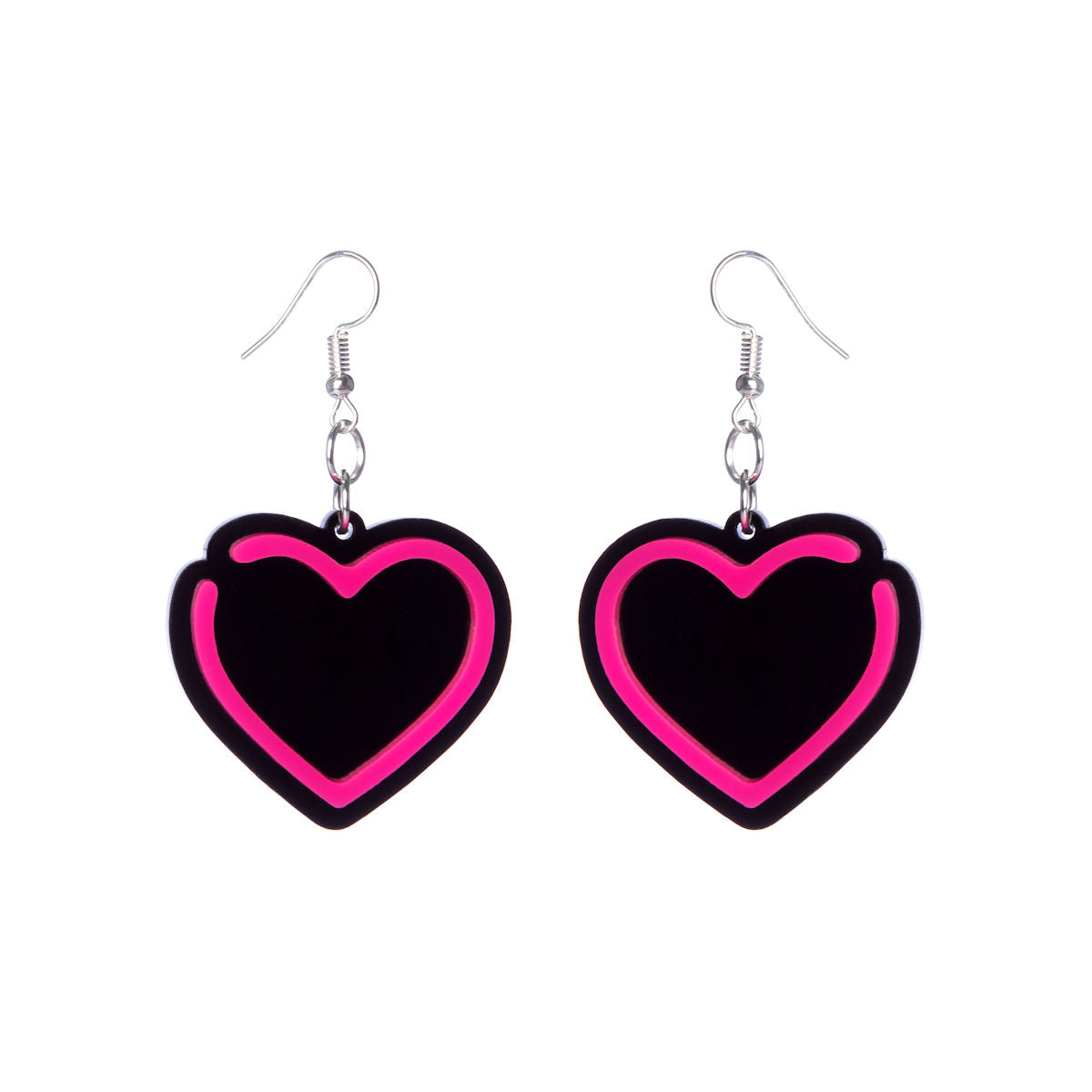 Sugar & Vice Neon Hearts Earrings