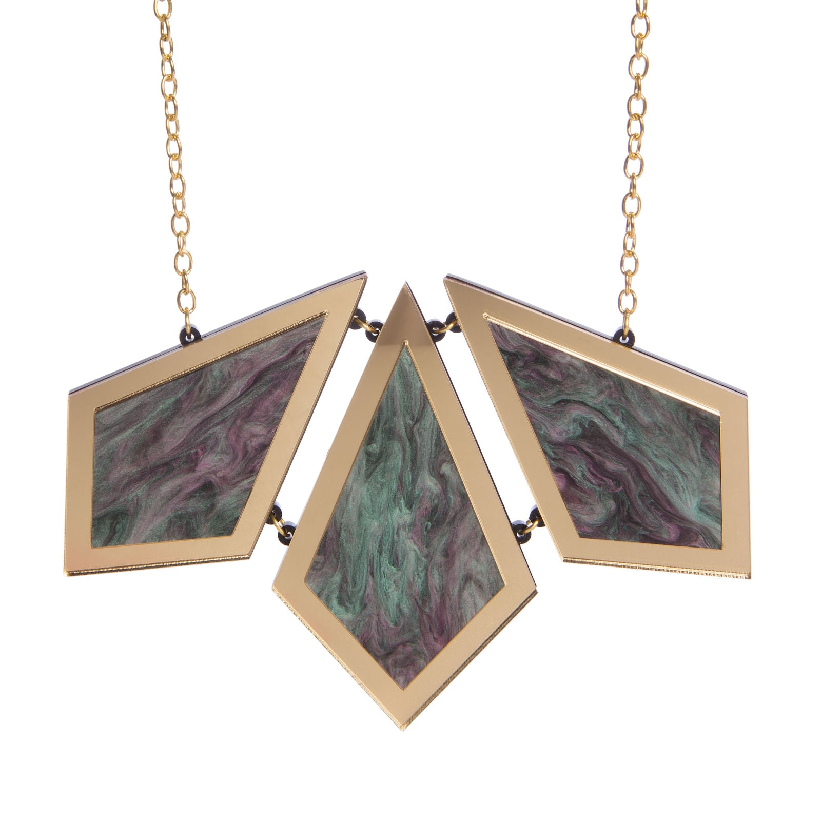 Sugar & Vice Diamond Marble Statement Necklace