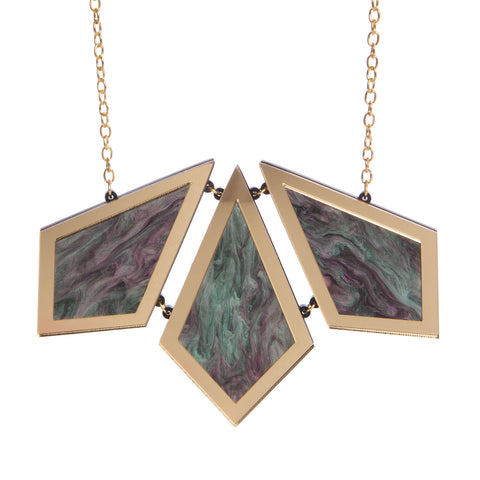Diamond Marble Statement Necklace