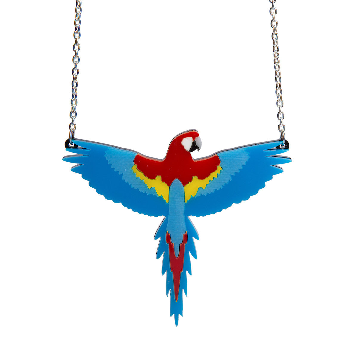 Sugar & Vice Scarlet Macaw Parrot Necklace