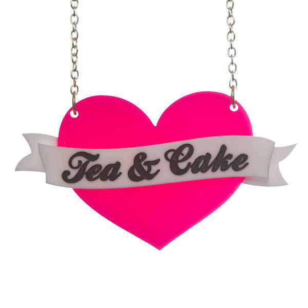 Sugar & Vice Personalised Heart Banner Necklace