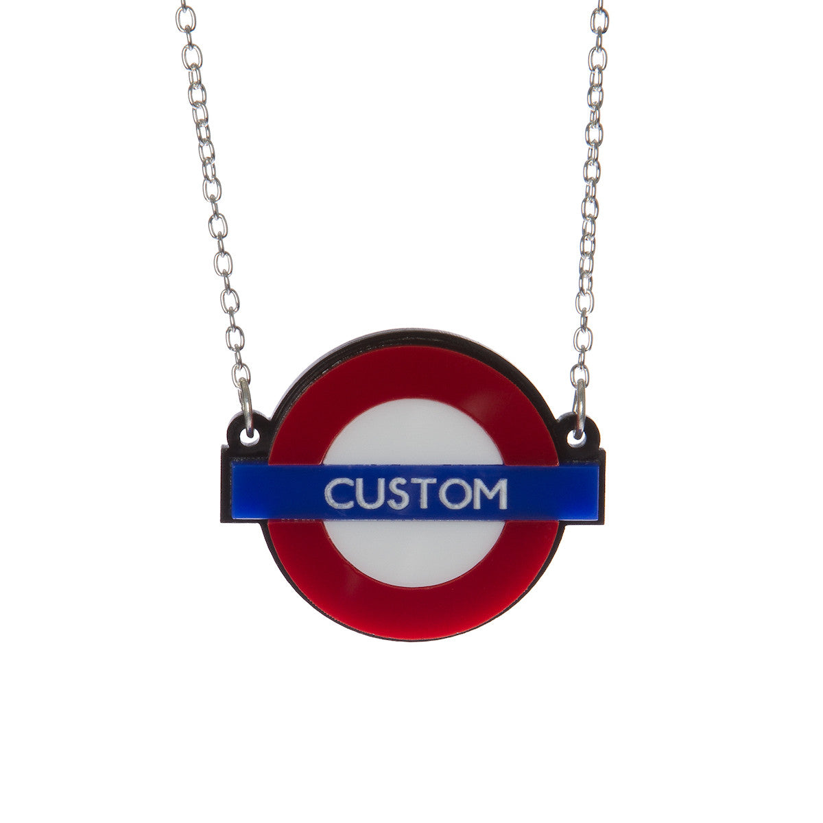 Sugar & Vice Personalised London Tube Stop Necklace
