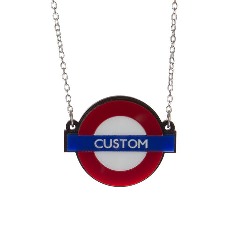 Personalised Tube Stop Necklace