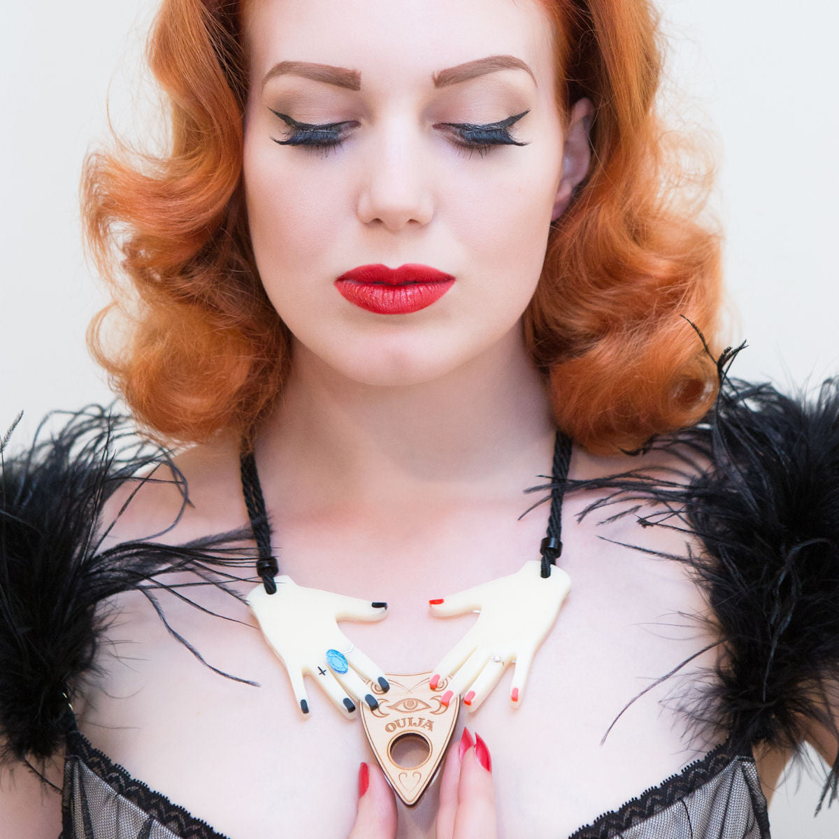 Sugar & Vice Summoning Hands Necklace Modelled