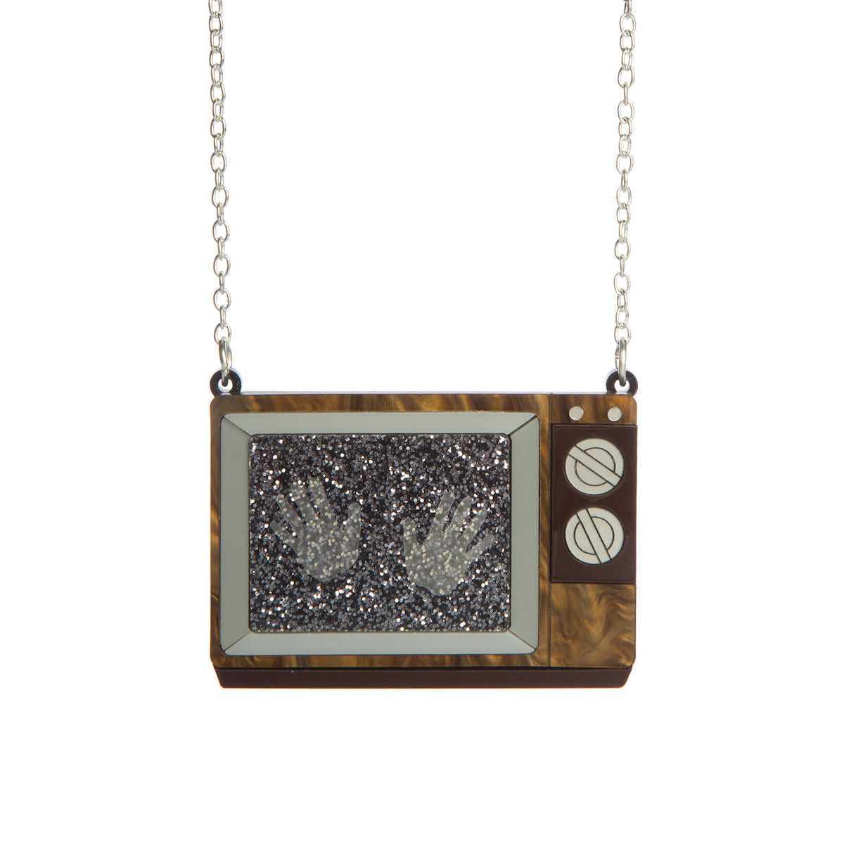 Sugar & Vice Haunted TV Set Necklace