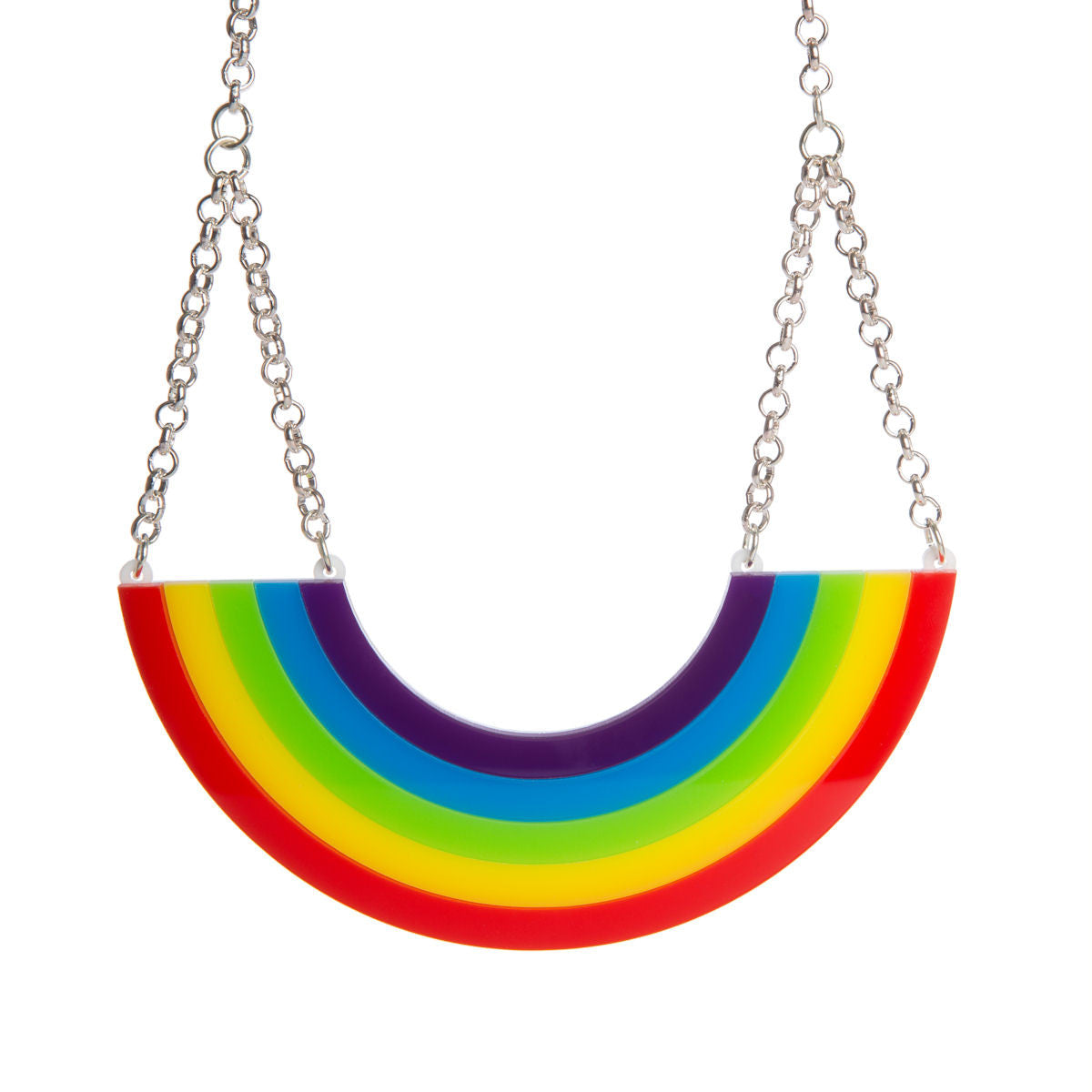 mini jewelry gold ileana metallic in pendant makri lyst multi crystal necklace iam rainbow by