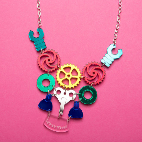 Robot Parts Necklace - also in pastel