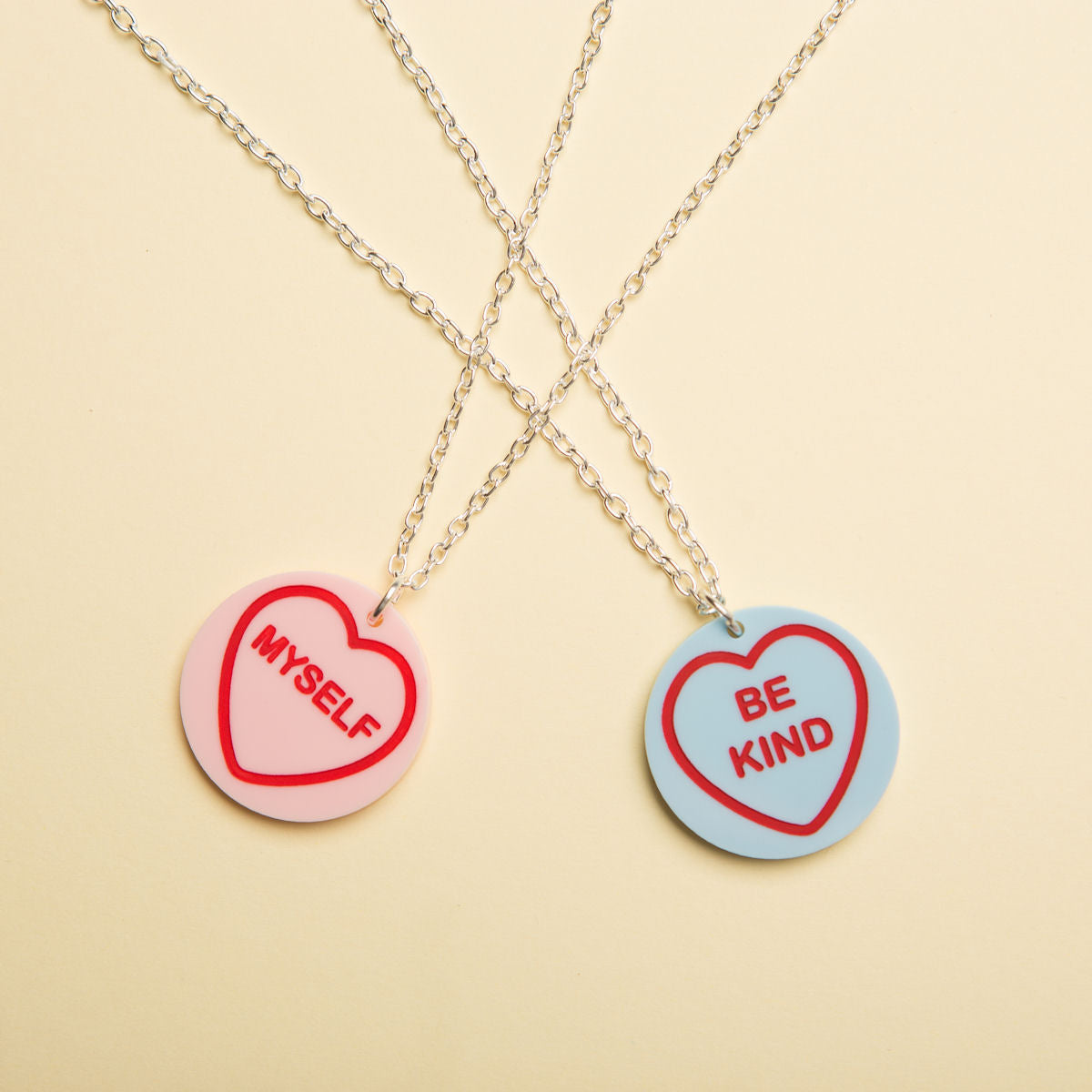 Sugar & Vice Self Love Hearts Necklace social media