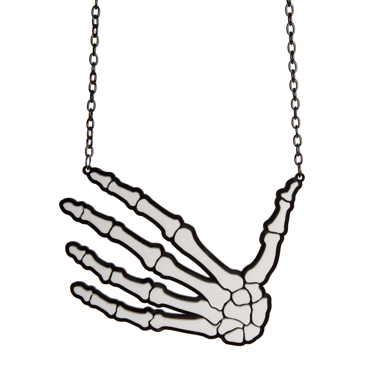 Sugar & Vice Skeleton Hand Necklace 1