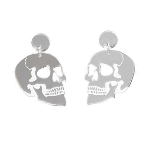 Skull Drop Earrings