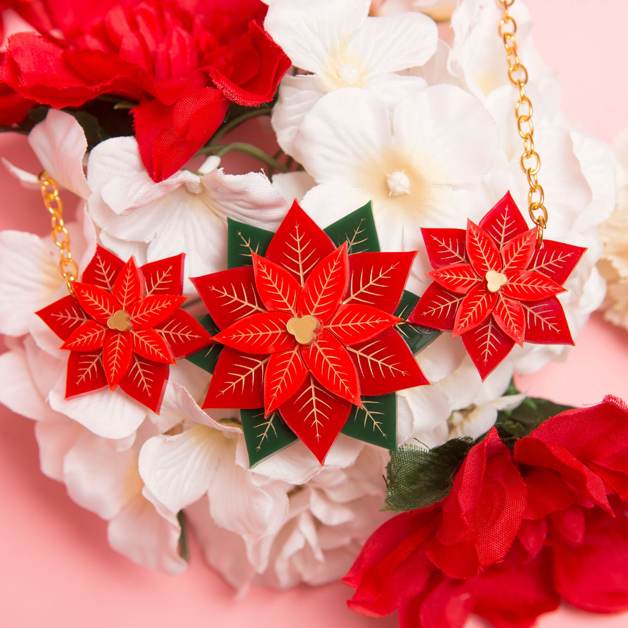 Poinsettia Necklace