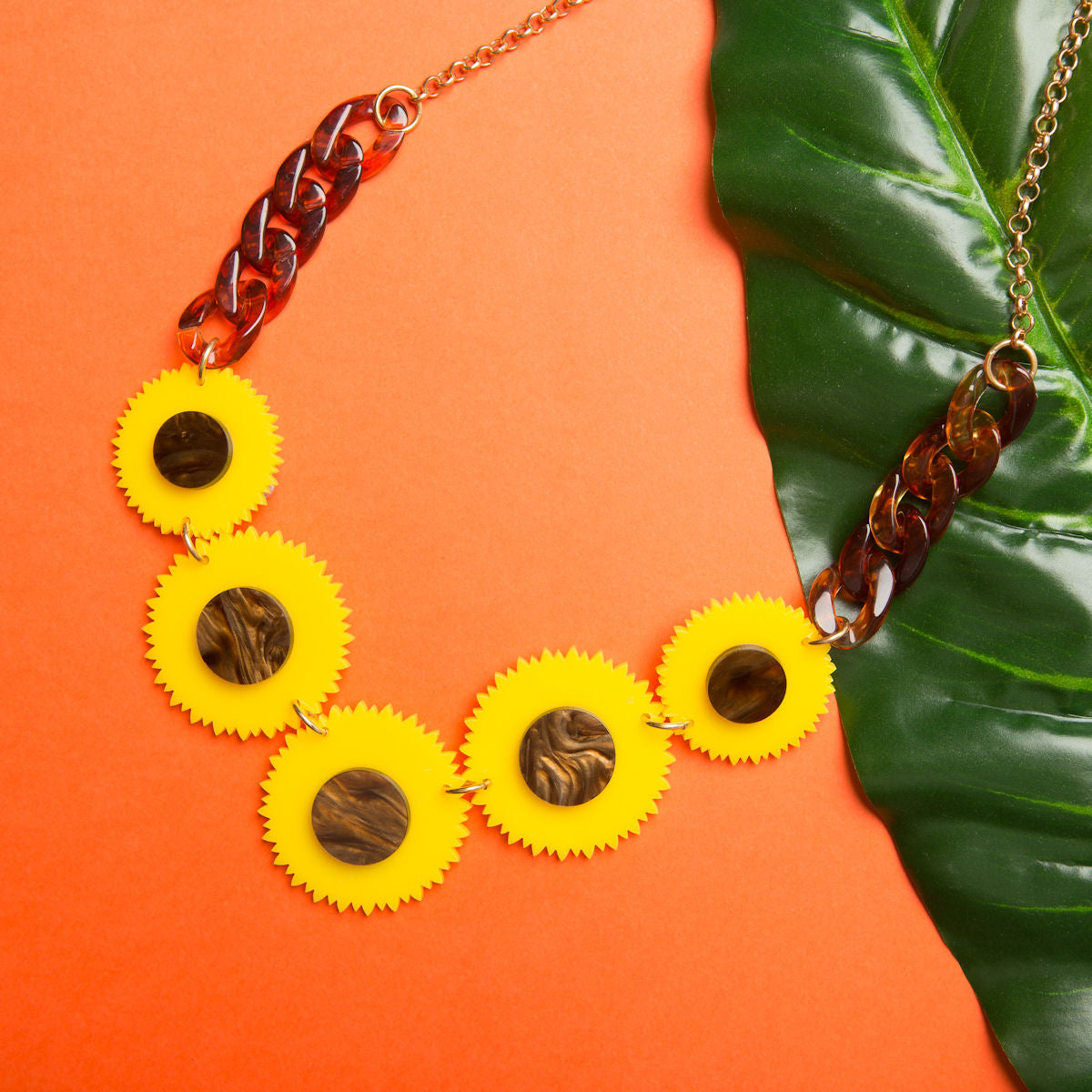 Sugar & Vice Sunflowers Necklace 2