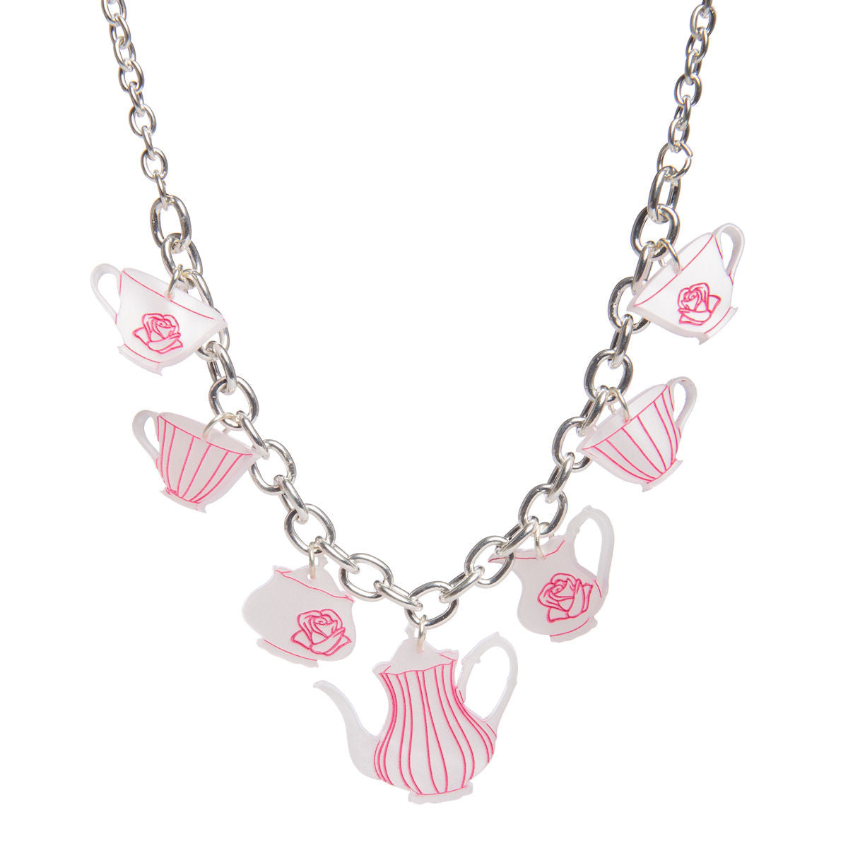 Sugar & Vice Tea Set Necklace