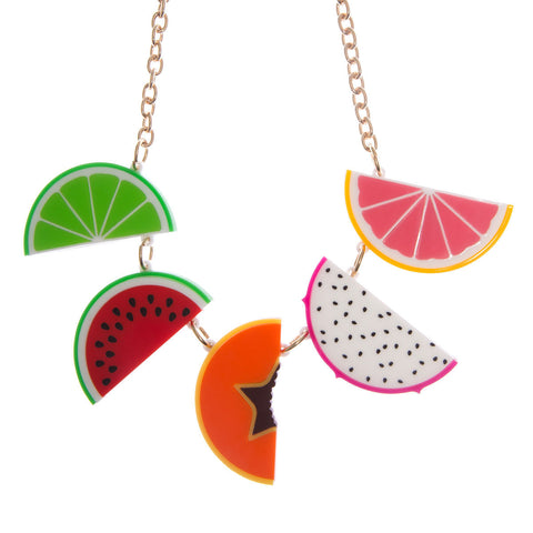Tropical Fruit Necklace