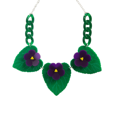 Violet Statement Necklace