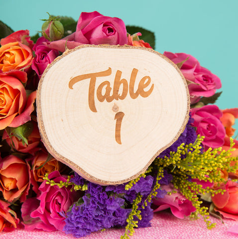 Wooden Table Marker