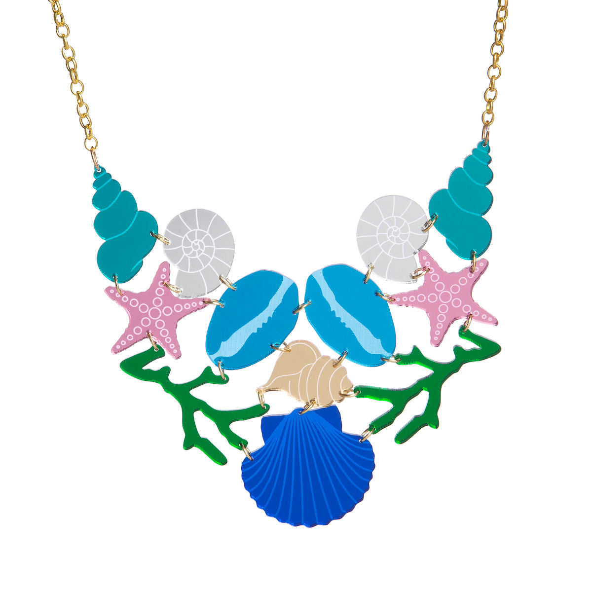 Sugar & Vice Shell Statement Necklace