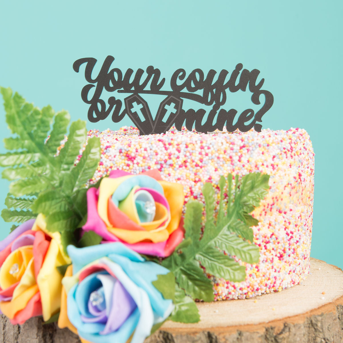 Sugar & Vice Your Coffin Or Mine Cake Topper