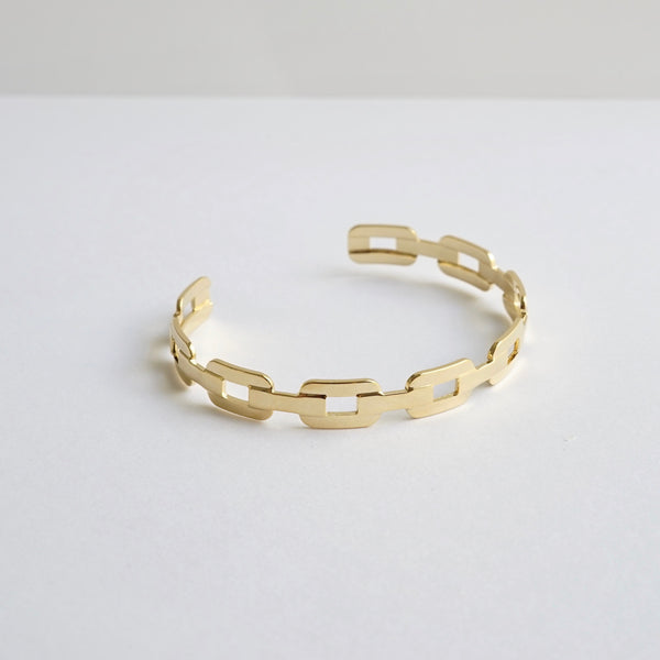 Polished Gold Link Cuff