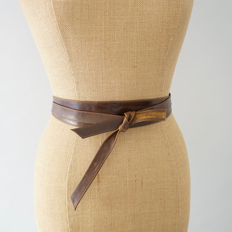 Ranch Brown Obi Slim Belt