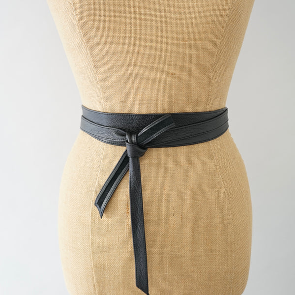 Black Obi Slim Belt