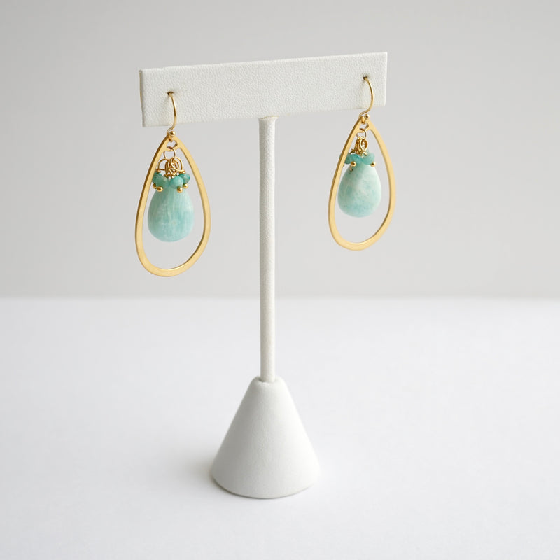 Laura Stark Green Chalcedony Earrings