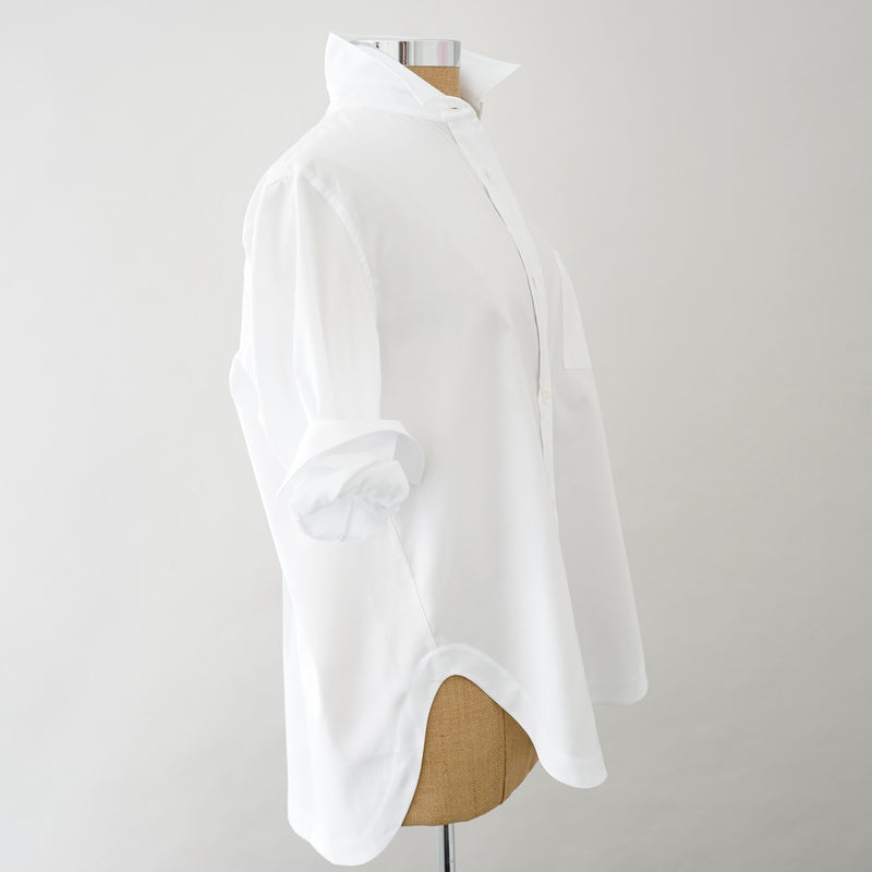 Caliban Oversized White Shirt