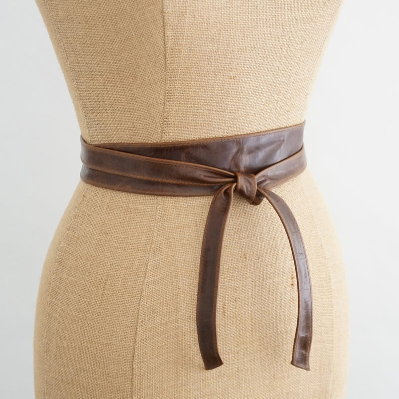 Leather Obi Slim Belt
