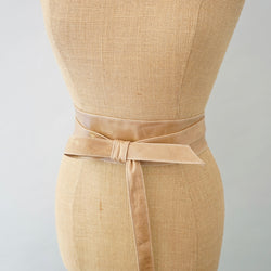 Nude Leather Obi Belt