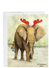 Load image into Gallery viewer, African animal Christmas Elephant
