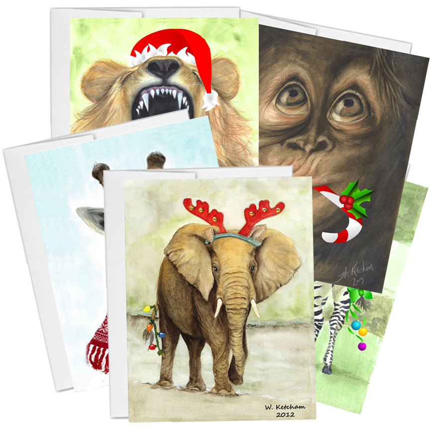 African animal Christmas collection