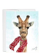 Load image into Gallery viewer, African animal Christmas giraffe