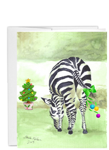 Load image into Gallery viewer, African animal Christmas zebra