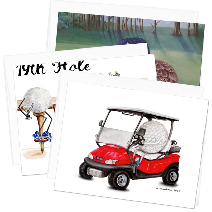 Golfers Note Card Collection