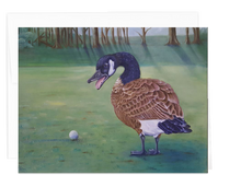 Load image into Gallery viewer, Golfers Note Card Collection - Canadian Goose