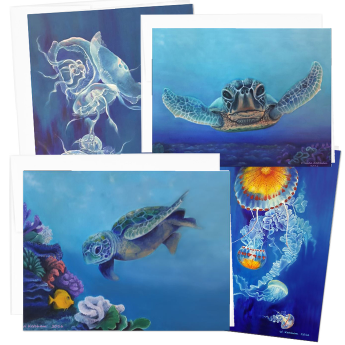 Sea Live Note Card Collection