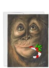 Load image into Gallery viewer, African animal Christmas gorilla