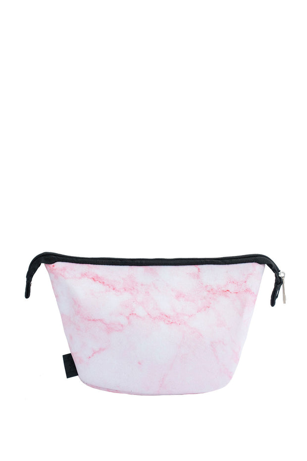 Cosmetic Bag in Pink Marble