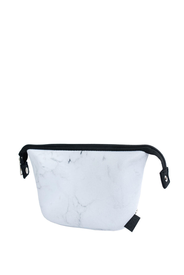 Cosmetic Bag in White Marble