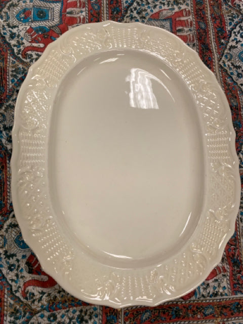Cream colored platter