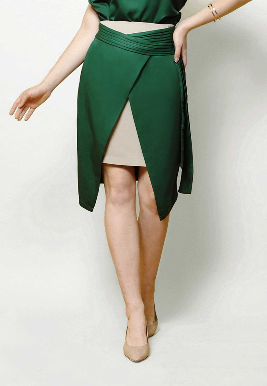 Berthe. Tulip Skirt - Green