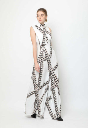 Ivonne. Open-back Jumpsuit - Chain