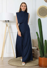 Load image into Gallery viewer, Ivonne. Open-back Jumpsuit - Dark Blue