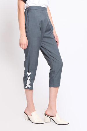 Gillian. Stretch Pants with Multi-ways Strap - Tosca
