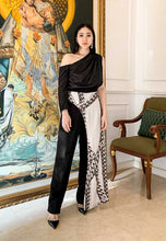Load image into Gallery viewer, Kierstin. Asymmetric Overlay Pants - Black