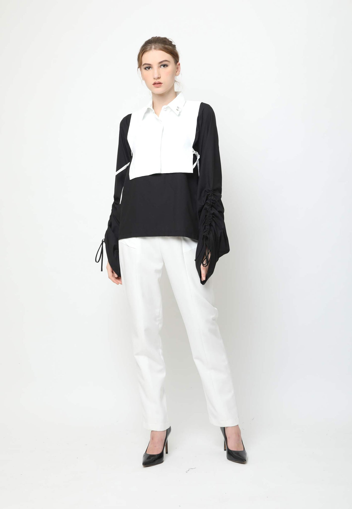 Gates. Detachable Shirt Collar - White