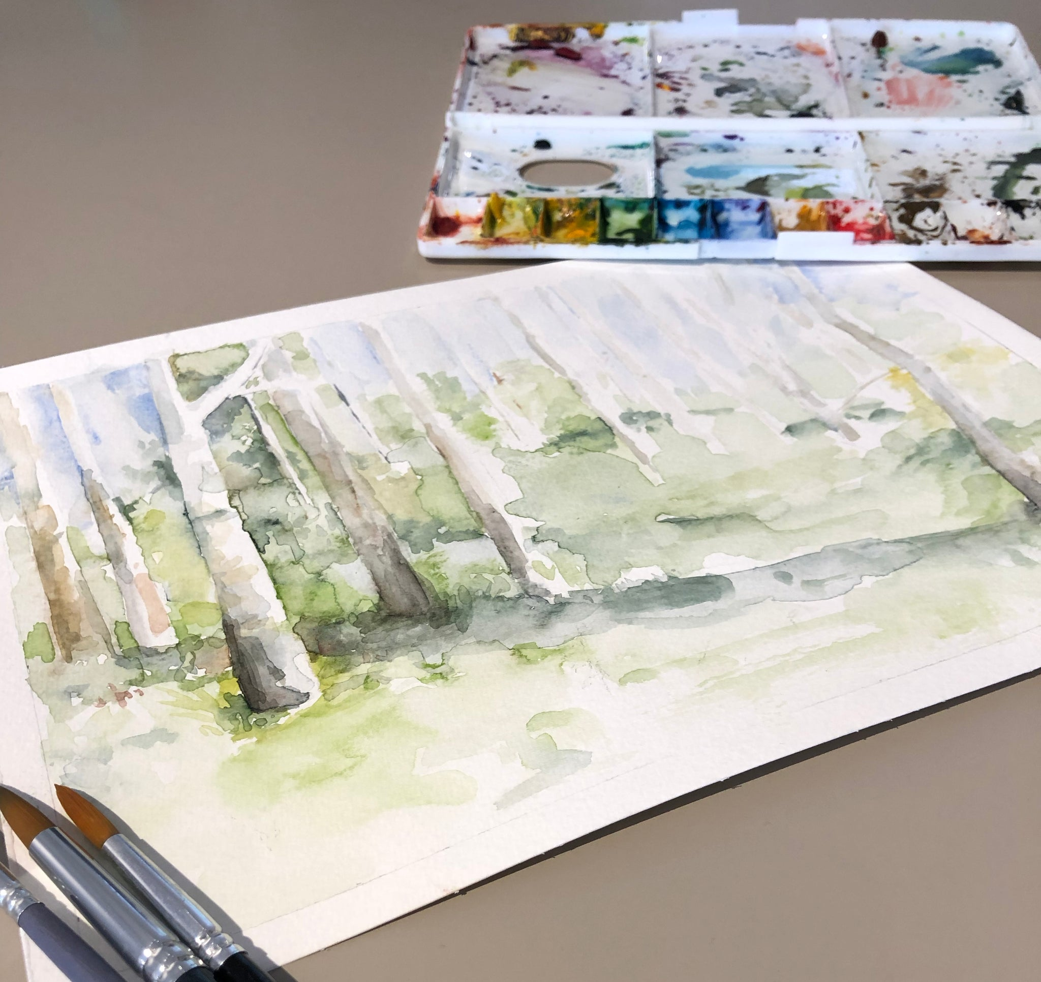 Forest Watercolour Workshop | LAC Art Studio Singapore