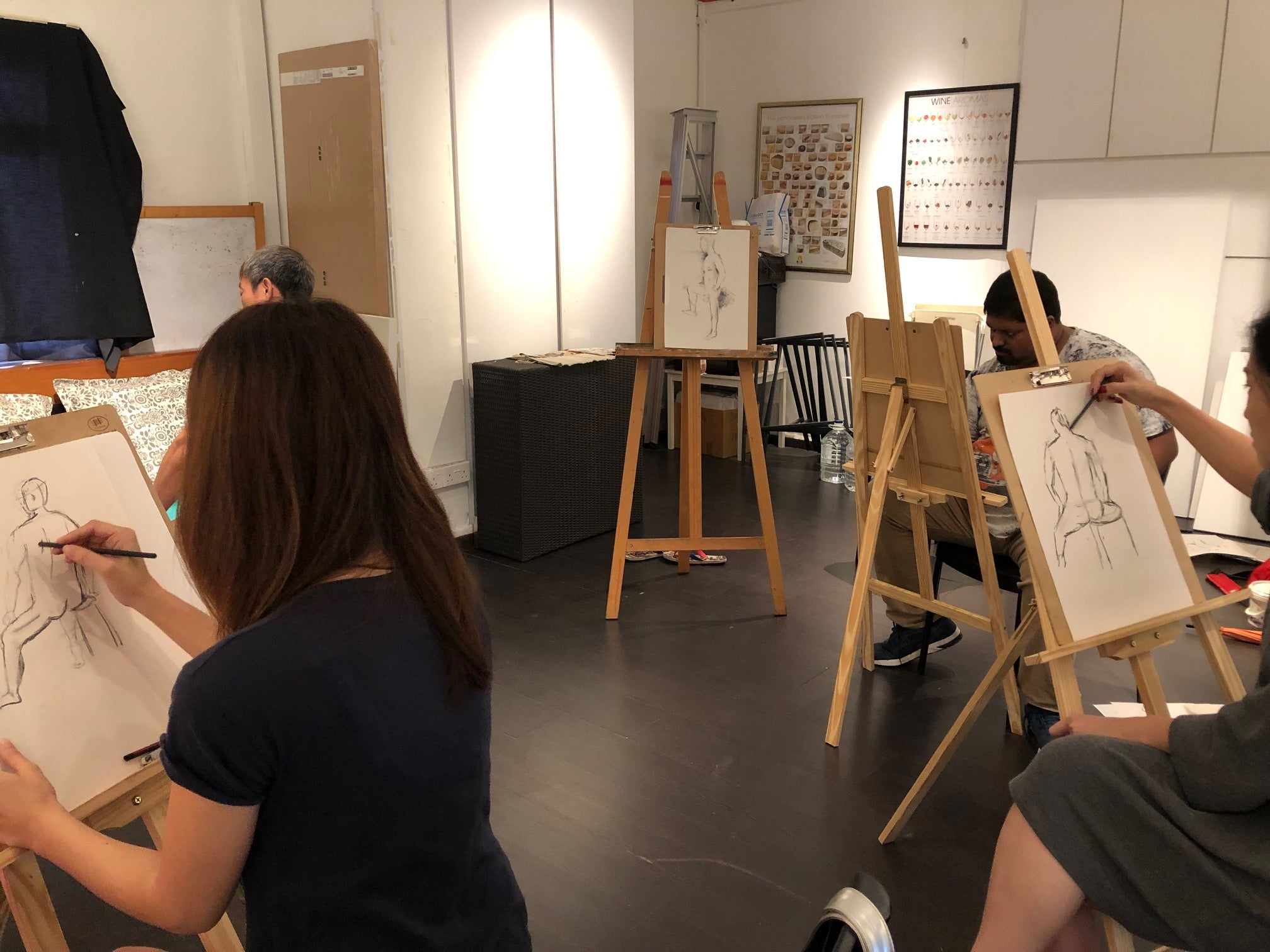 3-Day Figure Drawing Workshop | LAC Art Studio Singapore